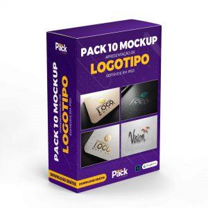 10 Mockups Apresentação de Logotipos