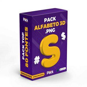 Pack Alfabeto 3D