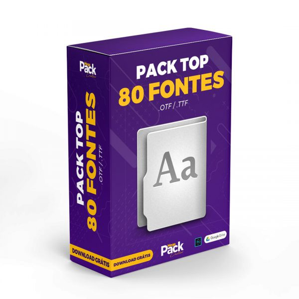 Pack Top 80 Fontes