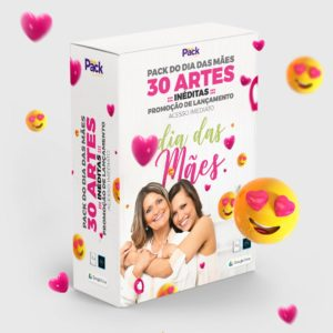 Pack 30 Artes editáveis dia das mães