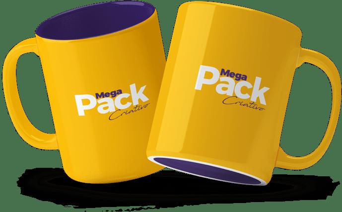 Mockups canecas Mega Pack Criativo