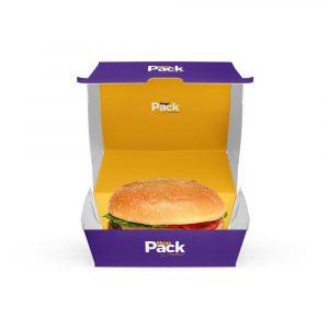 Mockup caixa de Hamburguer - Mega Pack Criativo