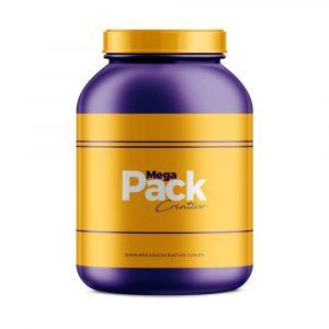 Mockup Embalagem Suplementos - Mega Pack Criativo